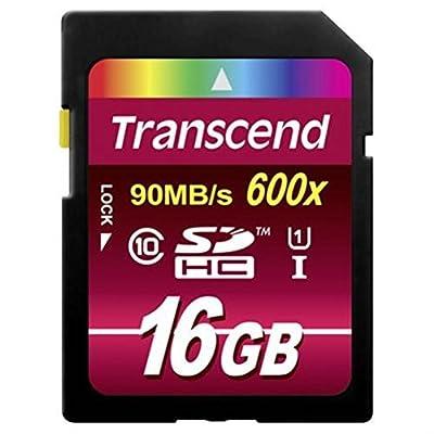 Transcend Ultimate - Tarjeta de Memoria Flash 16GB SDHC (MLC, Clase 10 UHS-I, 90mb/s, 600x) de Ultra Alta Velocidad Para Video HD y Cámaras Profesionales