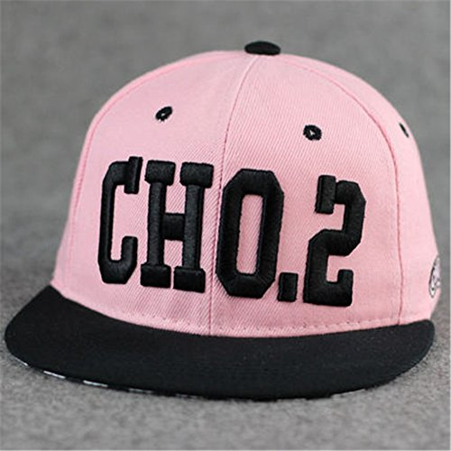 100% Cotton Embroidered Punk Rock Running Man Song Ji-hyo Style Baseball Adjustable Hat Cap(cho.2 Pink)