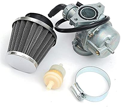 Auto-Moto Carburetor /& Air Filter /& Throttle Cable For Honda CRF70F XR70R Carb Mounting hole spacing 48mm Carburetor /& Air Filter /& Throttle Cable X 1