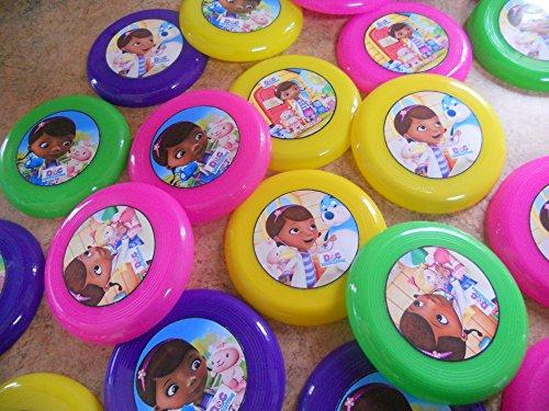 12 Doc McStuffins mini frisbees, birthday party favors, goodie bag loot