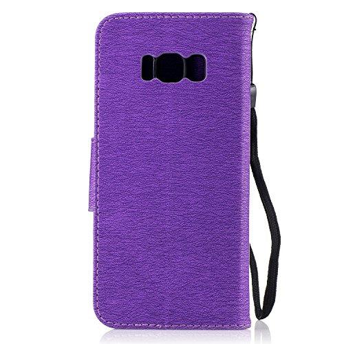 Flip Del Con Afortunado Galaxy Cover wallet Case Samsung funda Cover Funda S8 Carcasa Para Cuero Gofrado Leather Emaxelers Purple Bear Trébol Libro Suave C funda S8 Pu Diseño Impresión 1OxZq7