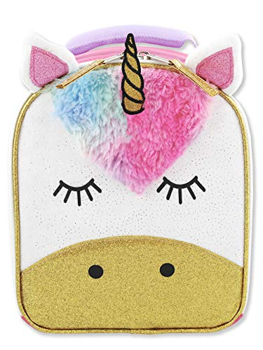 Unicorn Girls Soft Insulated School Lunch Box (One Size, - Face Box Lunch