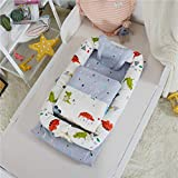 Baby Bassinet for Bed - Portable Baby Lounger - Breathable & Hypoallergenic Baby Bed - 100% Cotton Portable Crib for Newborns 0-24 Months Crocodile