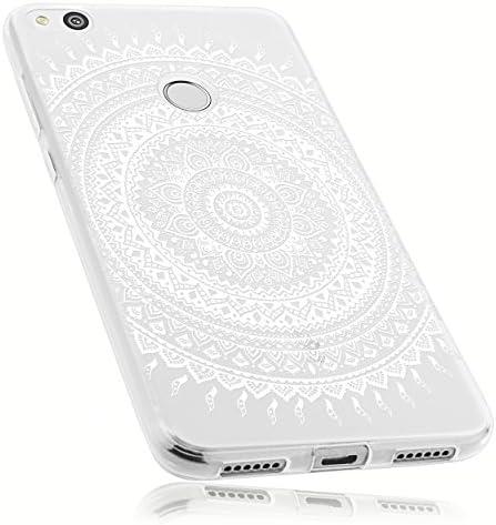 Mumbi Hülle Kompatibel Mit Huawei P8 Lite 2017 Handy Case Handyhülle Mit Motiv Mandala Weiss Transparent Elektronik