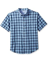 Men's Big and Tall Saltwater Chambray Short Sleeve Shirt
