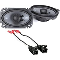 JBL GTO6429 Premium 4 x 6 Inches Co-Axial Speaker (1Pair) With Metra 72-4568 Speaker Harness for Selected General Motor Vehicles