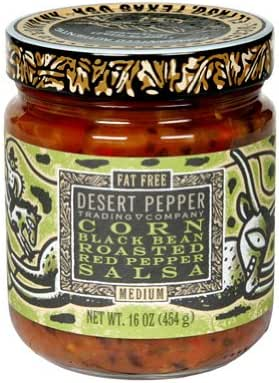 Desert Pepper Corn Black Bean Roasted Pepper Salsa ( 6x16 OZ)