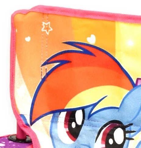 .My Little Pony. Kids Indoor Outdoor Girly in Pink Folding Camping Chair, Includes Carry Bag For Travel, Perfect For Sports Events and Camping Trips! Measures 13.8'' W x 13.8'' L x 21.6'' H