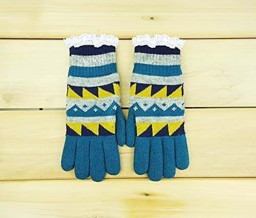 Amazon.com: Unisex Geometric Winter Gloves: Handmade