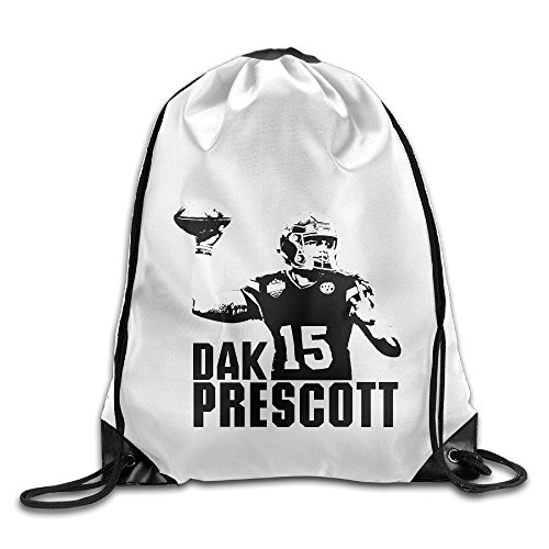 Bekey Dak Prescott Poster Gym Drawstring Backpack Bags For Men & Women For Home Travel Storage Use Gym Traveling Shopping Sport Yoga - The Prescott Portland