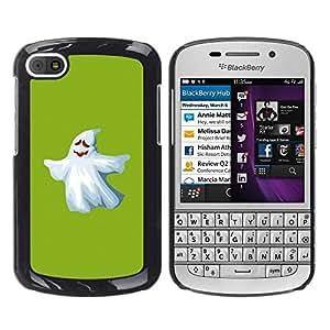 PC/Aluminum Funda Carcasa protectora para BlackBerry Q10 Ghost White Funny Scary Cute Ku Klux Klan / JUSTGO PHONE PROTECTOR