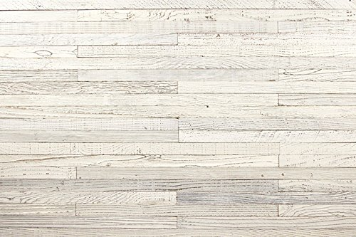 Reclaim Arbor Reclaimed Wall Wood Panels - Simple Peel and Stick Installation - 1/8-inch-thick 20 Sq. Ft, White Wash, 1.5 Inch Wide (Furniture Wood Reclaim)