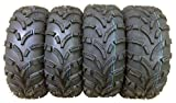 Set of 4 New WANDA ATV/UTV Tires 25x10-12 Front & 25x11-12 Rear /6PR P373