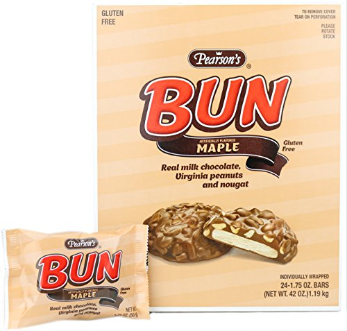 - Pearson's Bun Bar - Maple 24ct, 1.75 oz Bars
