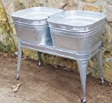 """Square Wash Tub with standard 1-1/2"""" tailpiece"""