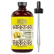 Beauty Aura 100% Pure Lemon (5 x extra Strength) Essential Oil – 4 oz