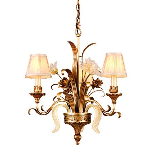 (Corbett Lighting 49-03 Tivoli 3LT Chandelier, Tivoli Silver Finish - ORO Bianco Venetian Glass - Pinch Pleat Shade)