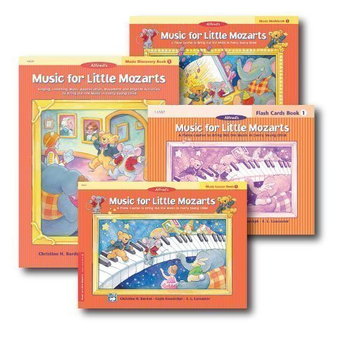Music for Little Mozarts Level 1 - Piano Curriculum Set - Lesson Book, Discovery Book, Workbook and Flash Cards Included