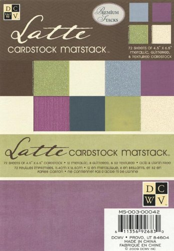 (Diecuts With A View 4-1/2 by 6-1/2 Latte Solid Coordinates Matstack)