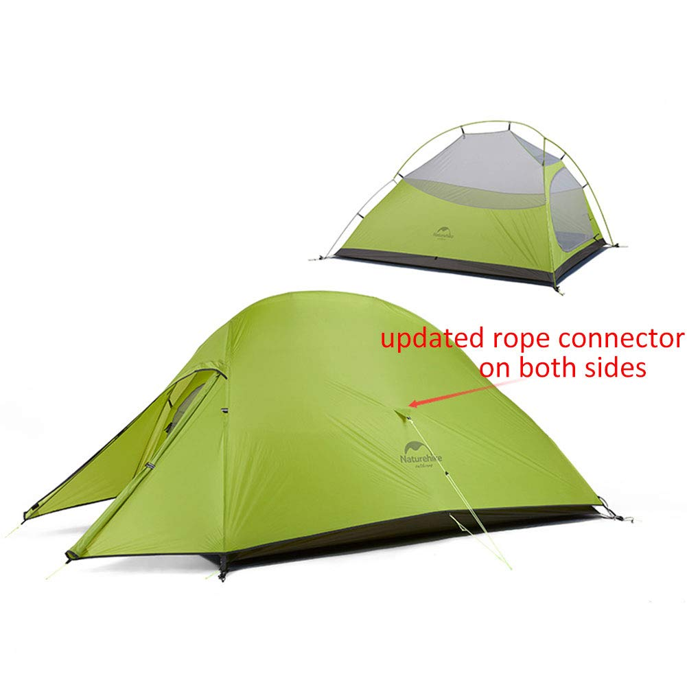 Naturehike 4 Saison Wasserdicht Winddicht Camping Zelt für 2 Personen ultraleichtwandern Zelt mit Bodenplane