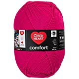 RED HEART E707D-3194 Comfort Yarn, Shocking Pink