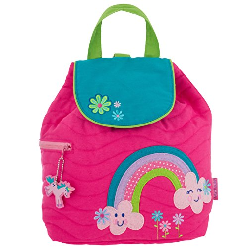 Stephen Joseph Girls Quilted Rainbow Backpack with Coloring Activity Book ()