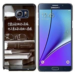 Dragon Case - FOR Samsung Note 5 N9200 N920 - Don't leave regret - Caja protectora de pl??stico duro de la cubierta Dise?¡Ào Slim Fit