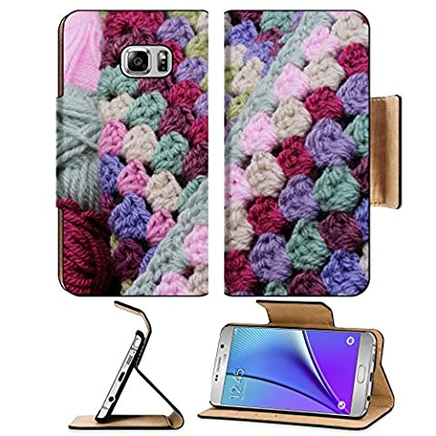 Luxlady Premium Samsung Galaxy Note 5 Flip Pu Leather Wallet Case Note5 IMAGE ID: 22612995 Balls of wool and crochet blanket skeins of yarn in pink and - Crochet Shell Afghan