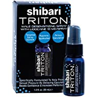 Shibari Triton Spray, Men's Desensitizing Spray, with Maximum Strength Lidocaine for Prolonged Intimacy and Performance