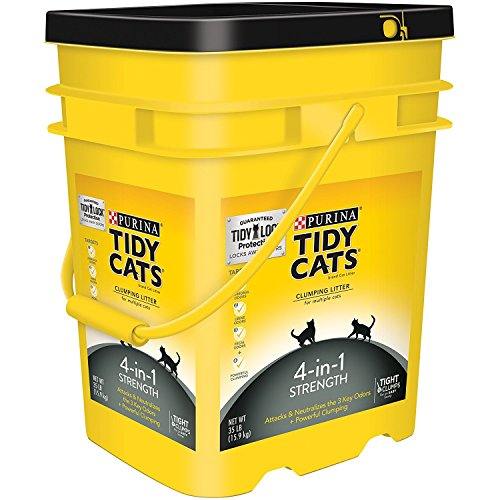 Purina Tidy Cats Clumping Litter 4-in-1 Strength for Multiple Cats 35 lb. Pail by Purina Tidy Cats