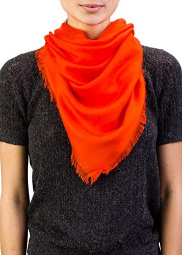 Versace Women's Repeating Medusa Logo Pattern Lenpur Scarf Orange by Versace
