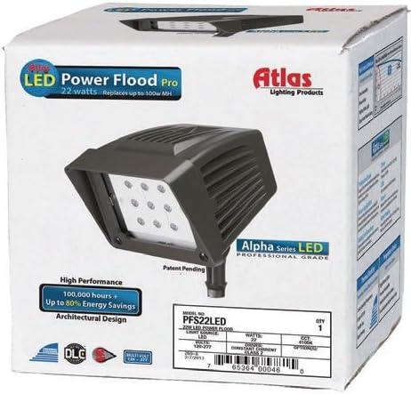 Atlas Lighting PFS22LED Knuckle Mount LED Flood Light 92.5 Watt 120 – 277 Volt AC Alpha
