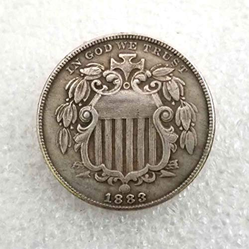 MarshLing 1883 Antique Liberty Five-Cents Coin - Great American Commemorative Old Coins - USA Uncirculated Morgan Dollars-Discover History of US Coins Perfect Quality