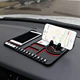 elegantstunning Car Anti-Slip Mat Car Multi-Function Phone Holder Washable Non-Slip Sticky Gel Pad red
