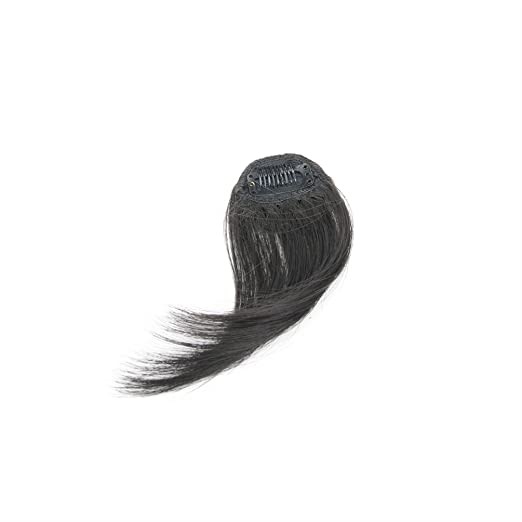 a52b646866d6 Amazon.com   Focussexy Fringe Hair Extension Clip in Front Hair Bangs One  Piece Air Fringe Hairpiece for Women Ladies Girls   Beauty
