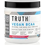 Truth Nutrition Naturally Fermented Vegan BCAA Powder – Red Raspberry | 30 Servings | Plant Based, Non-GMO, Gluten Free | Branched Chain Amino Acids | Pre/Post Workout Supplement