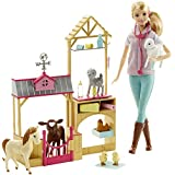 Barbie Farm Veterinarian Doll and Playset