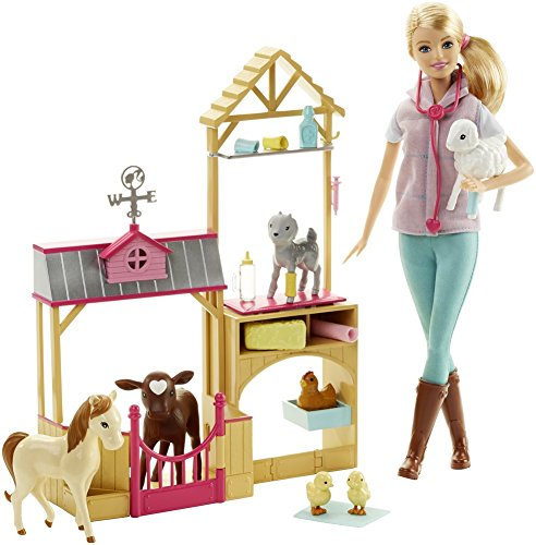 (Barbie Careers Farm Vet Doll &)