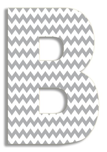 - Stupell Home Décor Grey Chevron 18 Inch Hanging Wooden Initial, 12 x 0.5 x 18, Proudly Made in USA