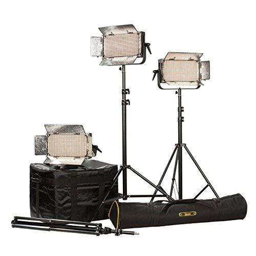 Ikan IB500-PLUS-3PT-KIT with 3 x IB500 Lights, Yokes and AB Mounting Plate, Black