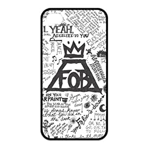 Fall Out Boy Printing iphone 4s Cases,Hard Silicone+PC Material, Case for iPhone 4 4s,Rubber Case Cover