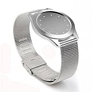 Watchband Replacement, Stainless Steel Wristband Watch Band Wrist Strap for Misfit Shine 1/Misfit Shine 2 (Silver, Misfit Shine 1)