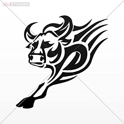 Amazon Com Decals Sticker Tribal Bull Tattoo Design Wall Art Decor