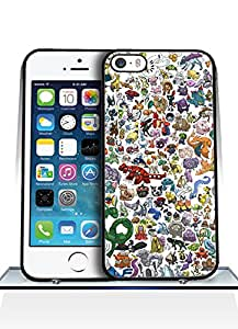 Iphone 5 Funda Case Game Pokemon Solid Anti Slip Customized Impact Resistant Ultra Slim Compatible with Iphone 5 / 5s