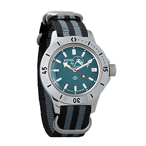 Vostok Amphibian Russian Military Divers Watch WR 200m Mechanical Automatic AUTO #120059 (Russian Wrist Mechanical Watches)