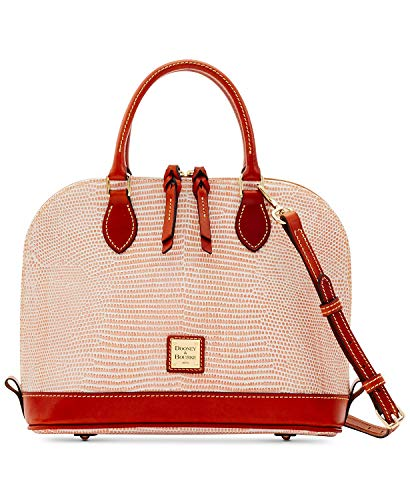 Dooney & Bourke Lizard-Embossed Leather Zip Zip Satchel (Light Pink) ()