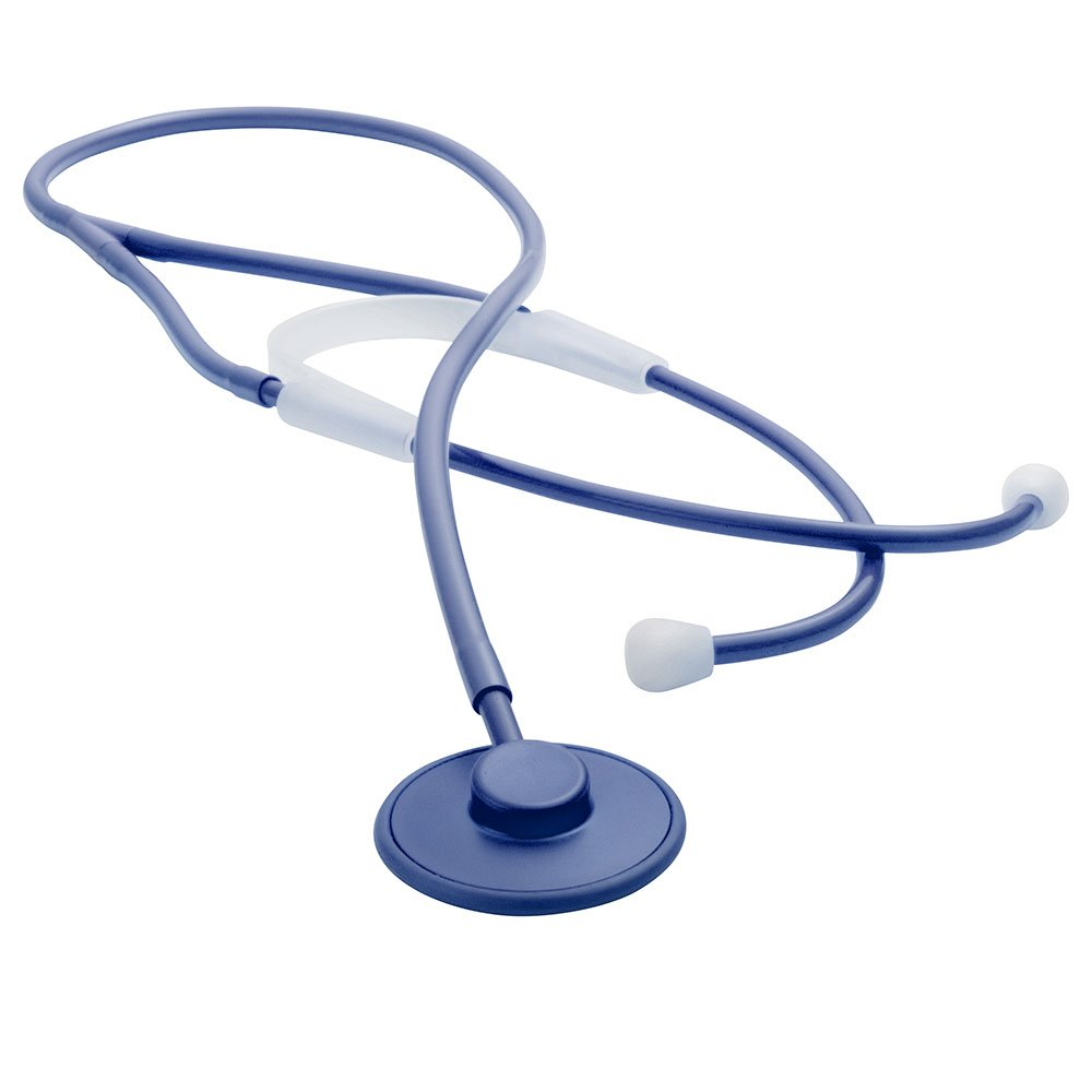 ADC Proscope 665 Ultra Lightweight Adult Disposable Single Use Stethoscope, 32 Length, Royal Blue Pack of 100