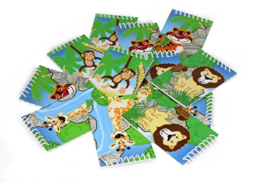 12 Mini Assorted Zoo Jungle Spiral Notebooks 3