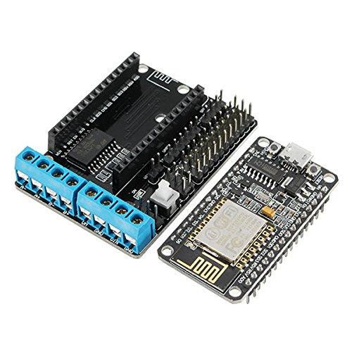 Price comparison product image (Wifi Car Dedicated) NodeMcu ESP8266 ESP-12E + WiFi Motor Drive Expansion Board - Arduino Compatible SCM & DIY Kits Module Board - 1 x (Wifi Car Dedicated) NodeMcu Lua ESP8266 ESP-12E