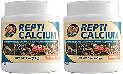 Zoo Med Reptile Calcium without Vitamin D3, 85 Grams Lambert Vet Supply A333